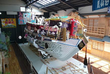常陸大津の御船祭の町並み再現