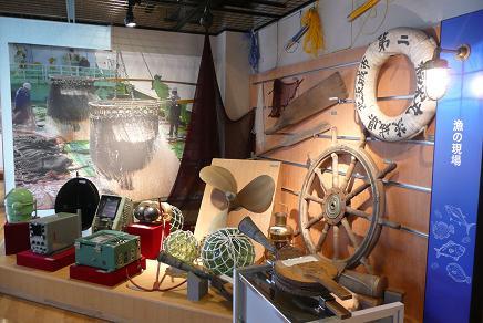 昔の漁具の展示