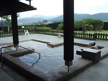 万葉の湯の露天風呂からの眺望