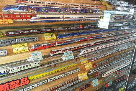 色々な電車の模型