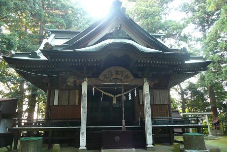 水戸愛宕神社の拝殿