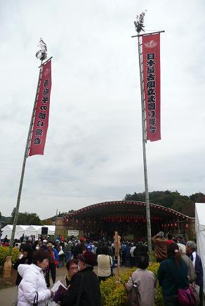日本最古の組み立て式回り舞台