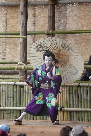 すっかり歌舞伎役者気分!