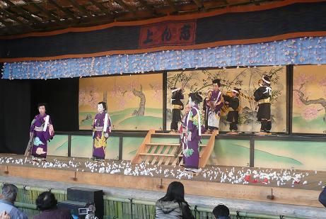 地元小学生による、こども歌舞伎「白波五人男」