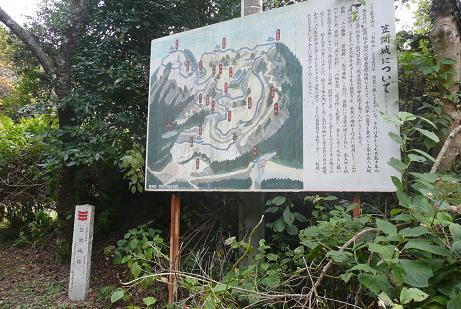 笠間城跡の案内