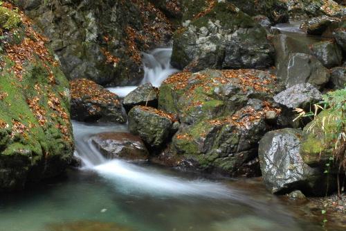 滝まえの小さな流れ・・・