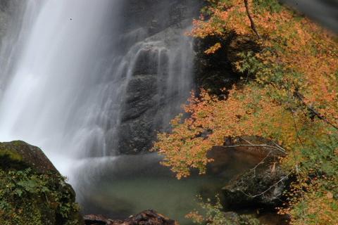 上段の滝口と紅葉