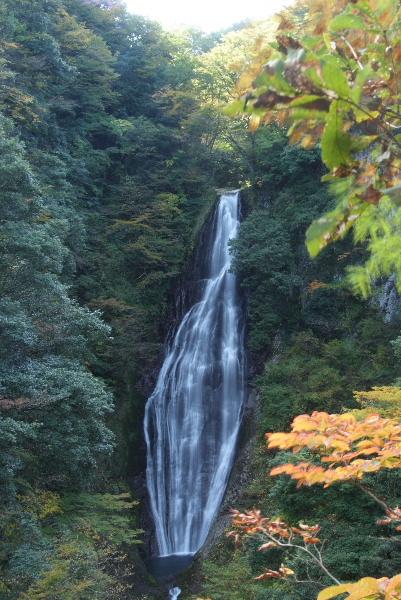 鱒返しの滝・・・紅葉はまだでした
