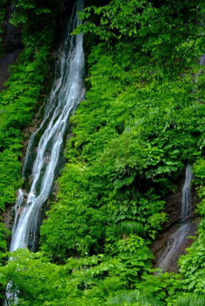 布引の滝・・2条の流れが・・