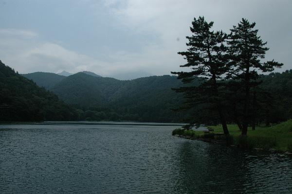 大野池・・・この向こうに大山が・・(>_<)