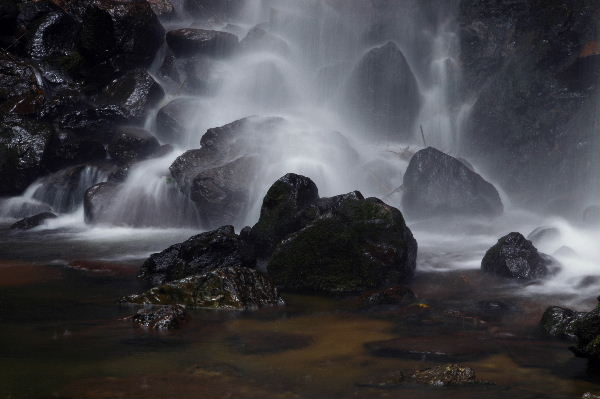 水量が少ない時は滝つぼに入れるとか?