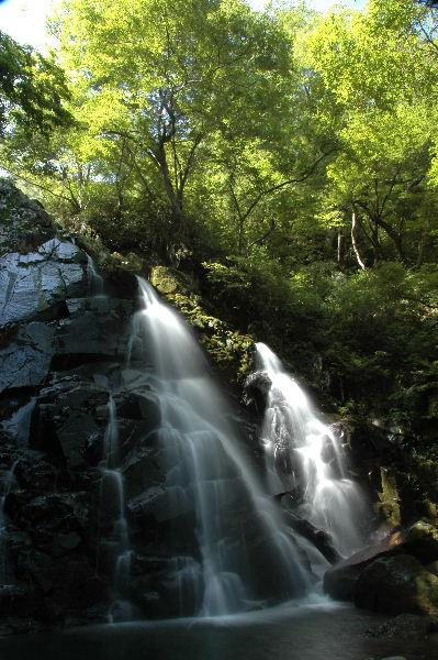 一つ滝、 ふた筋の流れが綺麗でした