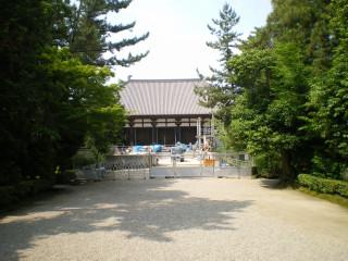工事中の唐招提寺