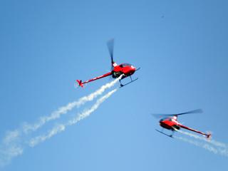 ヘリの模範演技