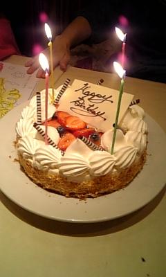 オフ会BDケーキ