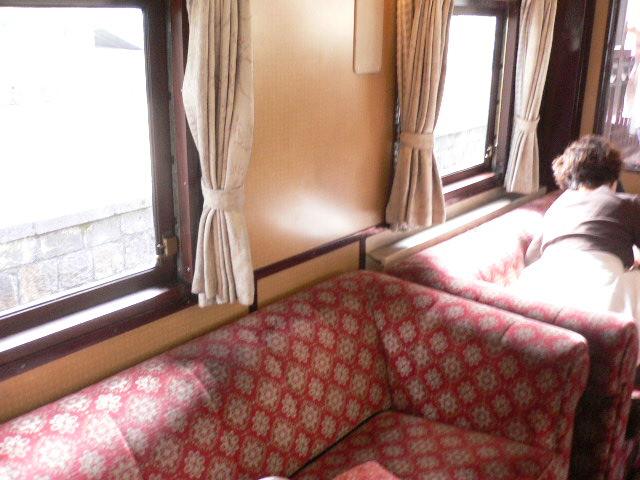 展望室のソファー