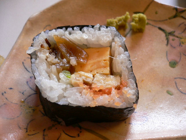 寿司飯少し甘め。