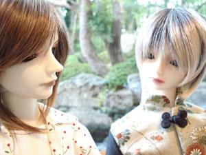 こちらはワンコとイタチの可愛い一枚。