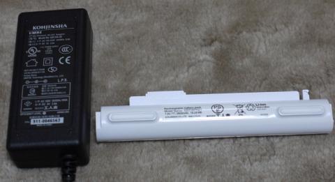 BXのACアダプタ、バッテリー