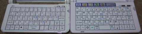 BXとm1本体の比較(キーボード)