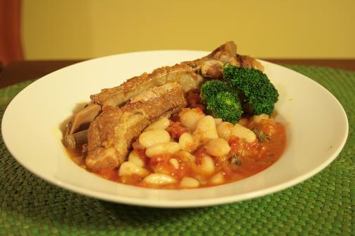 スペアリブと豆のトマト煮_3354