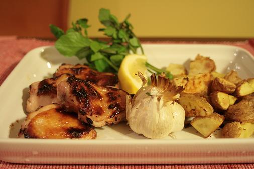 鶏モモ肉のオーブン焼き_3658