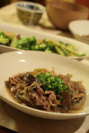 茄子と豚肉の生姜煮_8333