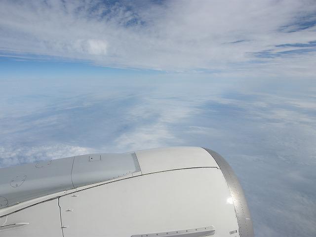 帰りの飛行機から1