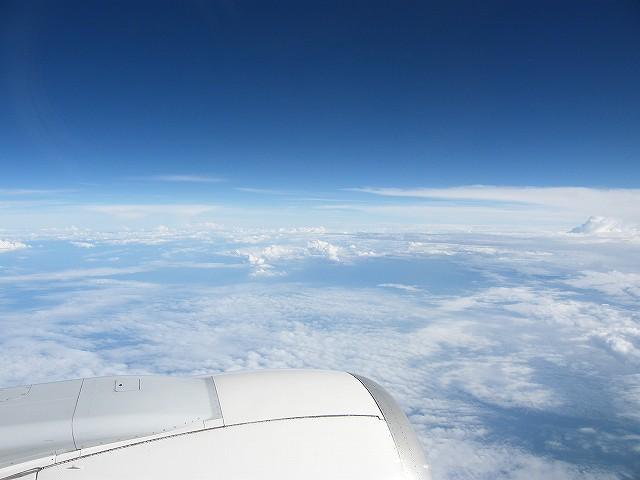 帰りの飛行機から3