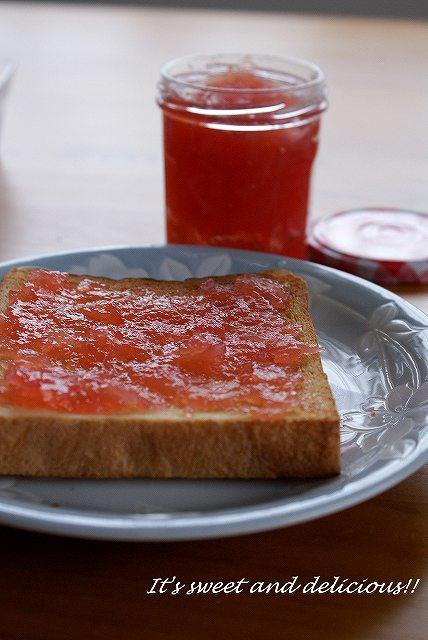 紅いリンゴジャム3