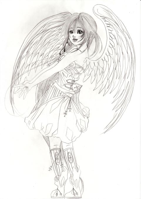 おすましポーズ天使
