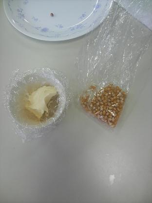 材料(バターとトウモロコシ)