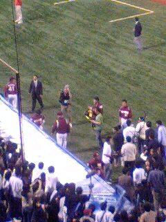 試合後のノムさん