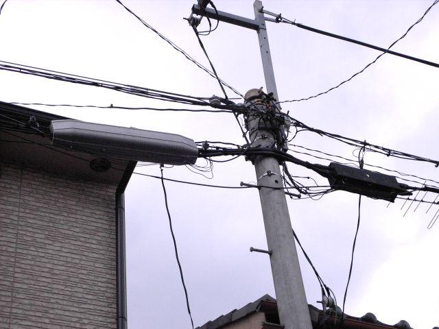 電柱の様子