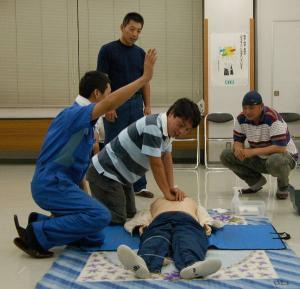 青年部若手後継者等育成事業人工救急救命・AED講習会