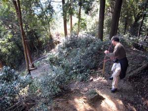 岩屋城ウォークラリー コース整備 平成19年10月21日