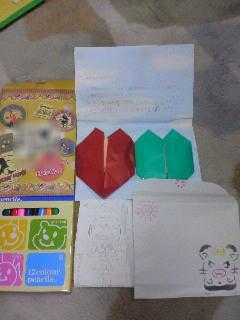 手紙と絵本と色鉛筆
