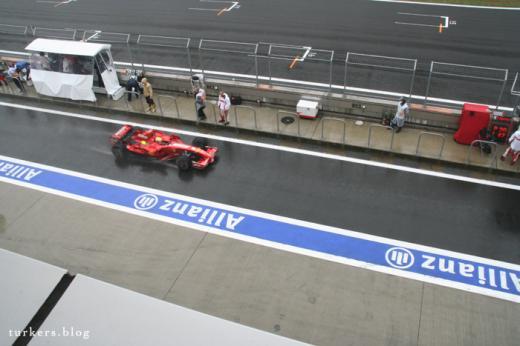 F1 日本GP 富士スピードウェイ ピット