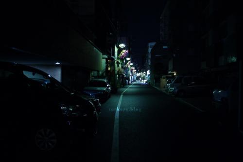 白金高輪、夜。