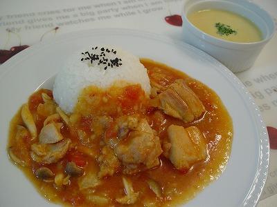 チキンカチャトラ&コーンスープ