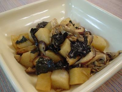 舞茸と長芋の磯炒め