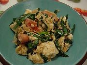 ニラと切干大根の味噌チャンプルー