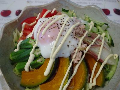 夏野菜たっぷりのサラダうどん