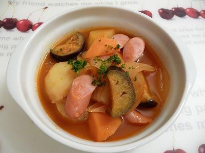 ウィンナーと野菜のケチャップ煮