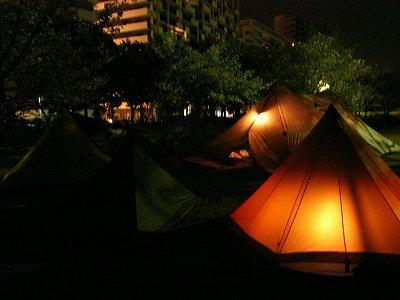 夜のワンポールサイト2