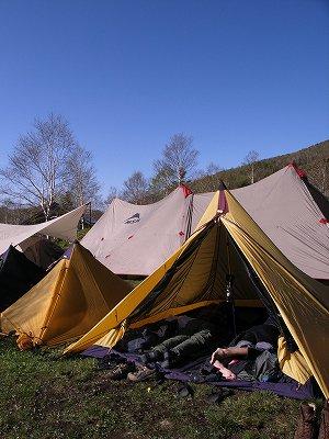 太陽をひきつけたキャンプ