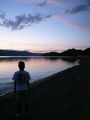 十和田湖夕焼け