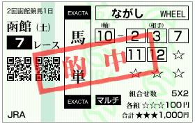 函館7R 500万下_馬単.