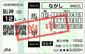 阪神12R_馬単_070909