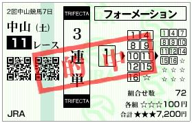 フラワーC_三連単_080322